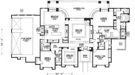 house plan 2913 sqare feet new orleans style house plan adobe southwestern style house plan 3 beds 3 00 baths