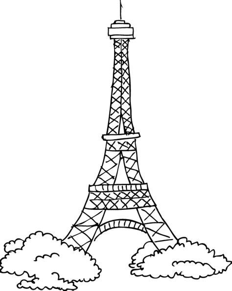 sticker decorativo disegno torre eiffel tenstickers