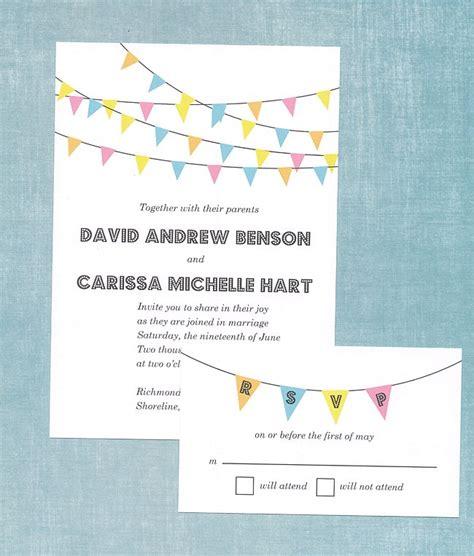 free printable wedding invitations bunting bunting banner wedding invitation 72 beautiful wedding
