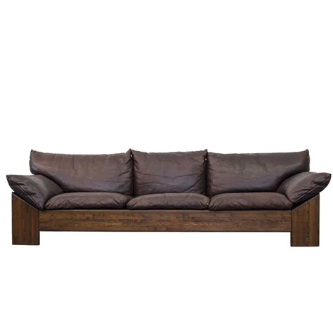 Buffalo Leather Sofa Leolux Three Seat Buffalo Leather Sofa At 1stdibs