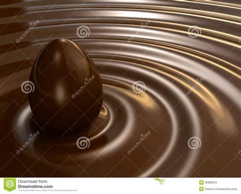 Liquid Chocolate Mr Milt chocolate egg stock images image 36982624
