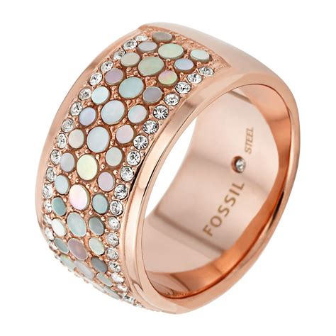 Fossil Ring Gold damenringe rosegold gro 223 e auswahl an piercing und