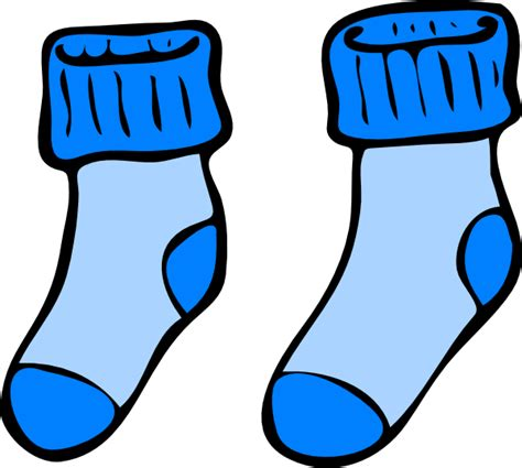 kaoss animasi 2 blue socks clip at clker vector clip