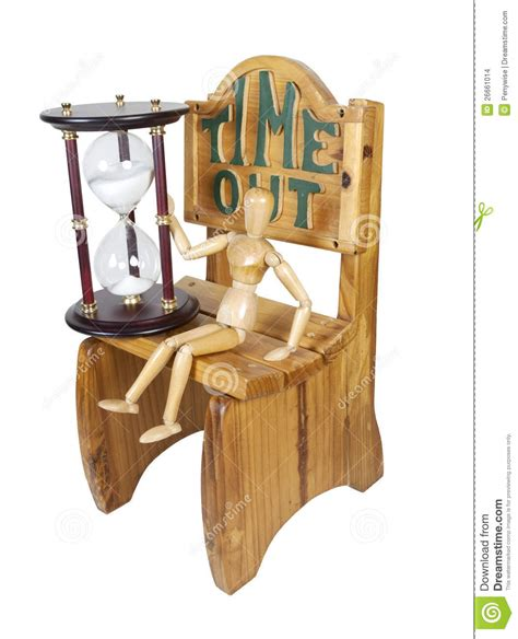 waiting out time in time out chair stock images image