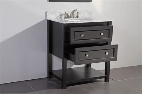 Design Inch Bathroom Vanity Ideas Bathroom Wooden 30 Inch Bathroom Vanity Design Ideas With Black Tile Flooring Plus White