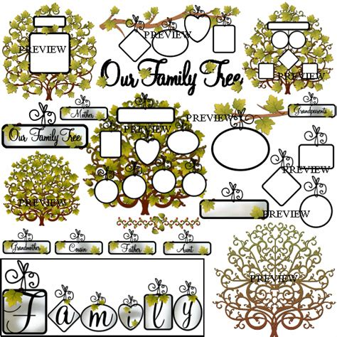 printable family tree tags family reunion printable clipart clipart suggest