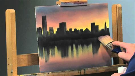 how to paint paint along how to paint a cityscape in oils part 2