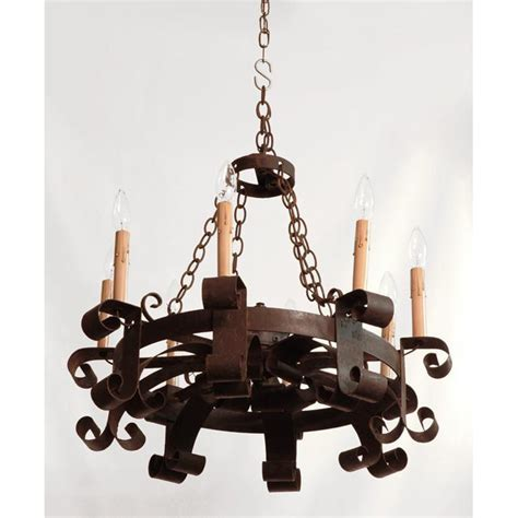 19th C French Hand Forged Iron Chandelier From Piatik On Forged Iron Chandelier