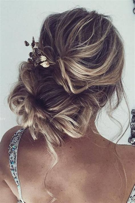 Wedding Hairstyles Curly Bun by Curly Low Bun Wedding Hairstyles Www Pixshark