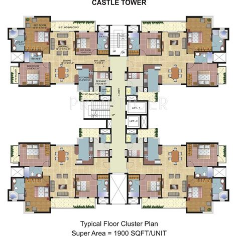 cluster house floor plan omaxe spa village in sector 78 faridabad price