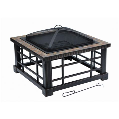 24 Inch Square Fire Pit Insert With Removable Grate Fire Rectangle Pit Insert