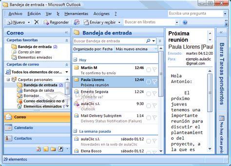 bandeja de entrada de correo electronico curso de microsoft outlook 2007 gratis 5 recibir y