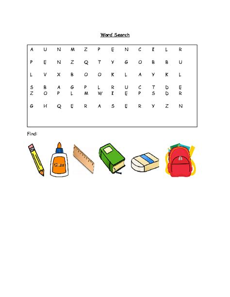 Is There A Free Search 265 Free Back To School Activities Worksheets