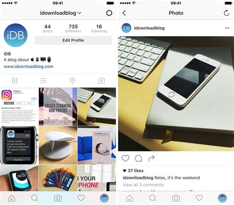 instagram screen layout instagram revs app with new icon and monochromatic