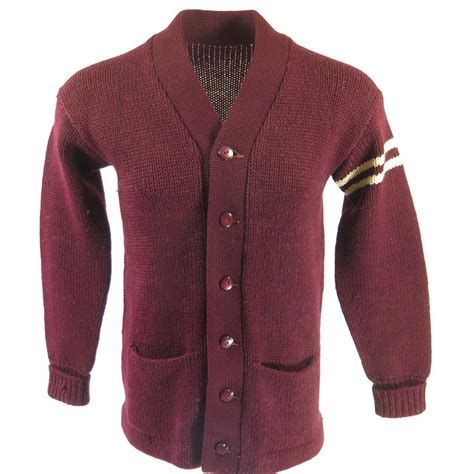 Sweater Cardigans 11 vintage 50s letterman cardigan sweater m burgundy bakelite varsity wool the clothing vault