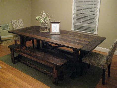 ana white farmhouse bench ana white rekourt farmhouse table diy projects