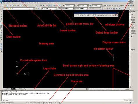 layout menu autocad autocad design simple tutorial autocad menu bar
