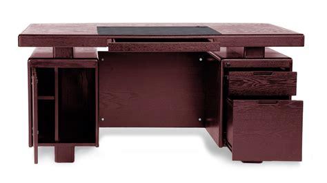 Modern Desk With Storage Mahogany Wood Modern Desk With Leather Pad And Storage Zuri Furniture