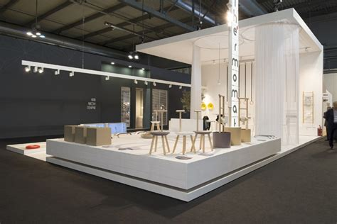 booth design retail thermomat booth at salon de mobile by archiplan studio