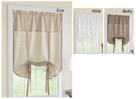 tie up shades curtains collectionsetc jacob tie up window curtain shade ebay