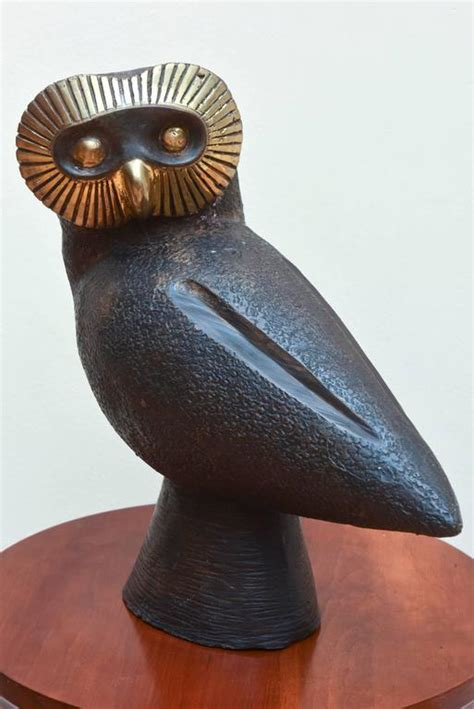 mid century modern large bronze owl for sale at 1stdibs