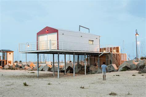 stilt beach house  italy
