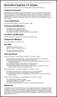 biomedical engineer cv sle myperfectcv