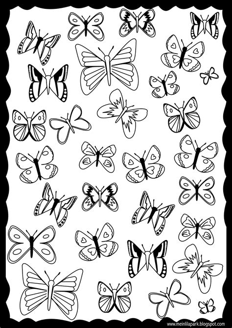 Coloring Pages To Print Free free printable butterfly coloring page ausdruckbare