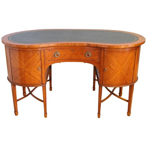 kidney shape desk satinwood kidney shaped desk circa 1890 for sale at 1stdibs