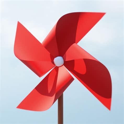 A Paper Windmill - paper windmill pinwheel 3d model
