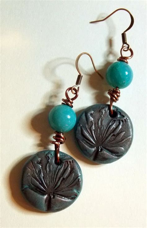 Handmade Polymer Clay Jewelry For Sale - agate and handmade polymer clay fossil my