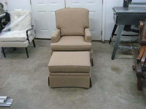 furniture re upholstery a set with a club chair with an ottoman upholstery