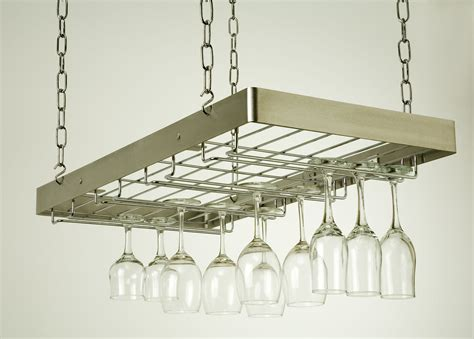 stainless steel plate hanging wine glass shelves with