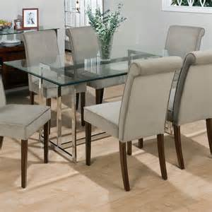 Dining Room Table With Glass Top Jofran Bethel Rectanglar Glass Top Dining Table At Hayneedle