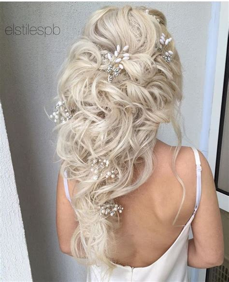 bridal hair wedding hair long hair extensions blonde clip in hair extensions 20 quot 160 g 60 ash blonde light