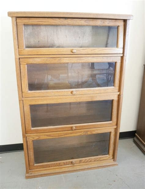 oak bookcase with glass doors oak stacking bookcase with glass doors 4 sections 37 inche