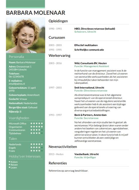 cv layout nederlands cv opstellen invullen en direct je cv downloaden cv nl