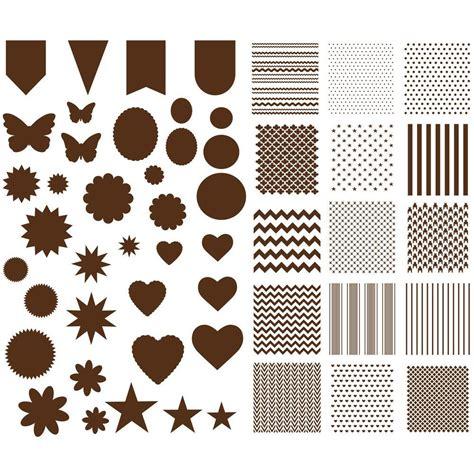 Paper Stencils Crafts - martha stewart crafts patterns and shapes paper stencils