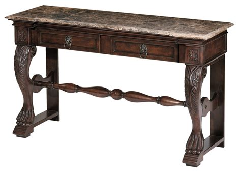 marble top sofa tables carved console table with marble top 22240 stein world
