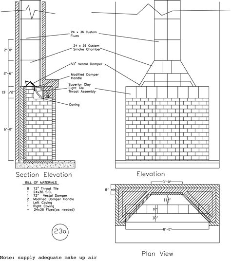 Fireplace Plans by Rumford Fireplace Plans