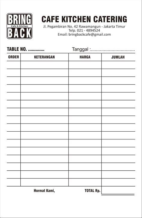 Kwitansi Ncr 2 Rangkap cetak nota bon rangkap arung printing