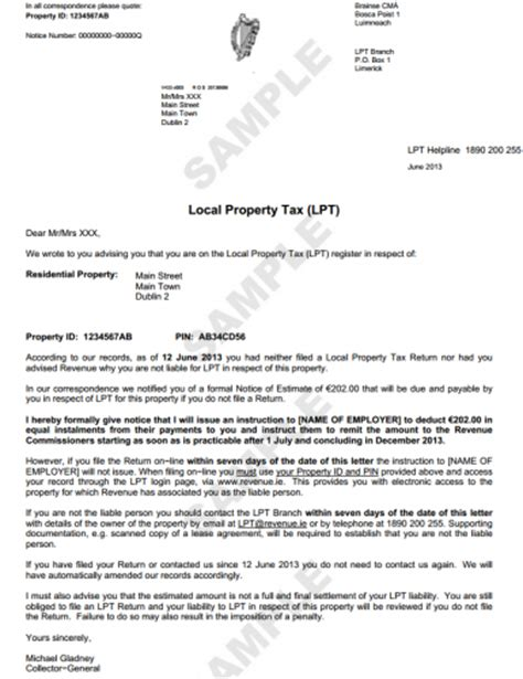 Loan Opinion Letter If You Ve Not Paid The Property Tax Revenue Is Sending You This Letter