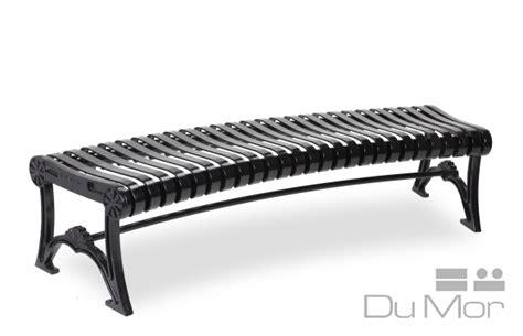 dumor benches curved bench r92 dumor site furnishings