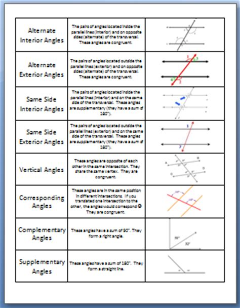 Line And Angle Relationships Worksheet Answers by Image Gallery Line And Angle Relationships