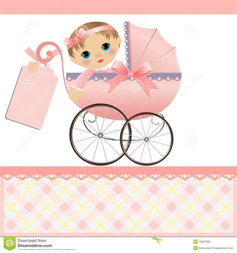 Baby Card Template by Baby Announcement Card Stock Illustration