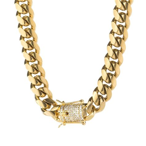 The Links In The Chain cuban link chain iced clasp spicyice