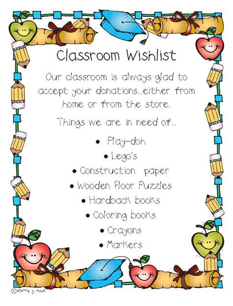 classroom wish list template wish list printable related keywords suggestions