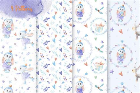 Alesya Set bunny watercolor set by alesya pytskaya