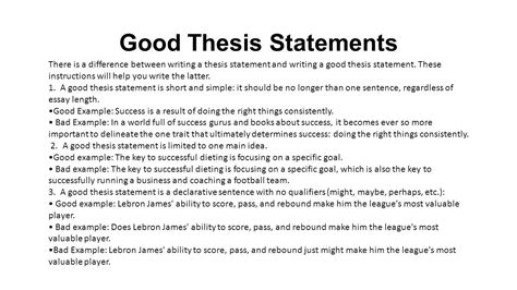 a thesis statement should include what should you include in a thesis statement