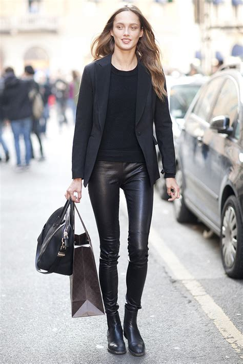 casual model girl how to style women s leather pants for everyday wear 2018